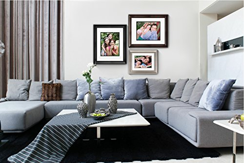 amazoncom timeless frames 12x16 inch fits 8x12 inch photo lauren portrait wall frame black home kitchen
