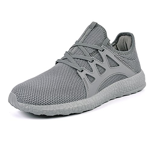 Casual Street Fashion Shoes (Mxson Men's Ultra Lightweight Breathable Mesh Street Sport Walking Shoes Casual Sneakers (12 D(M) US, Grey))