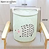 Wall of Dragon Cotton Linen Fabric Foldable Cartoon Clothes large Castle Laundry Storage Buckets Bags kids Toy Storage Basket