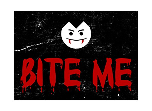 Bite Me Blood Red Large Print Vampire Face