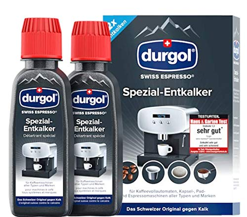 Durgol Swiss Espresso Machine Decalcifier/Descaler Solution, Set of 2