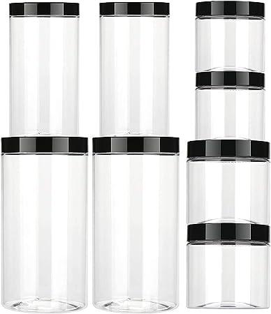 El paquete incluye 2 mini contenedores (7.05oz/0.2L), 2 contenedores pequeños (12.35oz/0.35L), 2 con