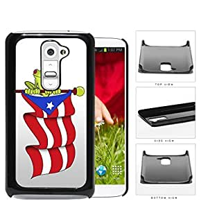 Puerto Rican Flag With Green Frog Hard Plastic Snap On Cell Phone Case LG G2