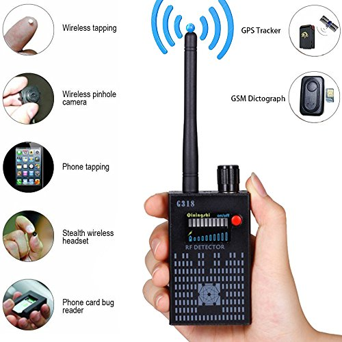 Anti-Spy Amplification signal detector spy bug camera wireless Detector spy detector device spy camera wireless hidden (Wireless Detector)