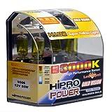 Hipro Power 9006 55W 3000K Golden Yellow Xenon HID Halogen Fog Light Bulbs