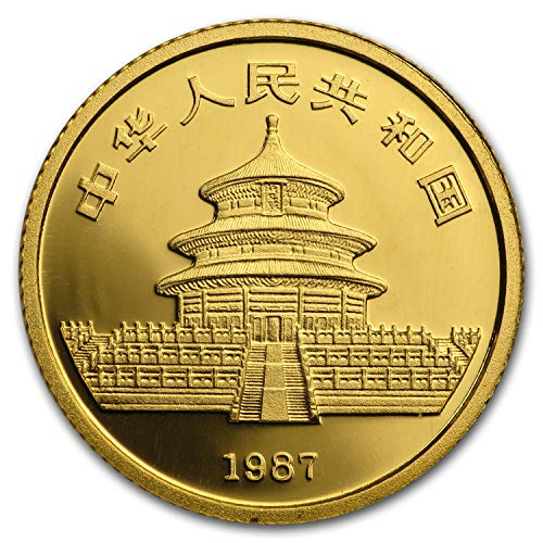 1987 CN China 1/10 oz Gold Panda Proof (In Capsule) Gold About Uncirculated