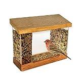 Hampton Direct Window Mounted Bird Feeder - Watch Birds Up Close By Your Window