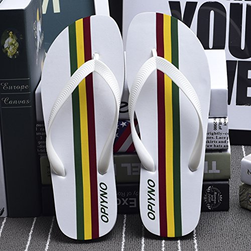 Men'S Student Sandals Slippers Flops Summer Flip And Colors White Sandals Flops AIHUWAI Fight Slippers Beach Flip Flip Sandals Men Men'S Male 7Tqq61an