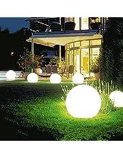 Luzes solares para caminhos ao ar livre, luzes de jardim alimentadas por energia solar, luz redonda com luz branca/quente, IP65 à prova d'água, luzes de caminho, para pátio, gramado, quintal e paisagem, 2 peças