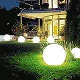 Luzes solares para caminhos ao ar livre, luzes de jardim alimentadas por energia solar, luz redonda com luz branca/quente, IP