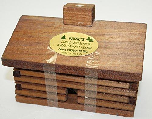 Super Log Cabin Incense Burner with 20 balsam fir logs