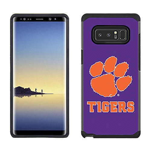 Prime Brands Group Textured Team Color Cell Phone Case for Samsung Galaxy Note 8 - NCAA Licensed Clemson University Tigers Clemson Tigers Note
