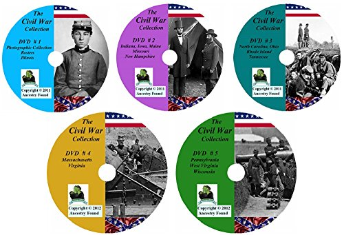 Civil War History and Genealogy - The Ultimate Collection - 698 books on DVD