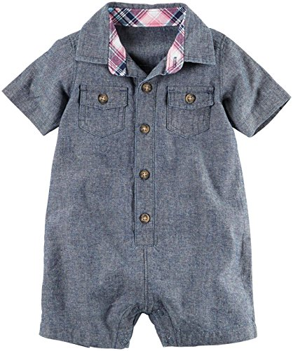 Carter's Fashion Romper - Denim - 6 Months
