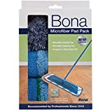 Bona Microfiber Floor Cleaning Mop Pads, 3 Pack