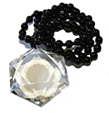 Large Clear Quartz Star of David Necklace 03 Healing Energy (Gift Box)