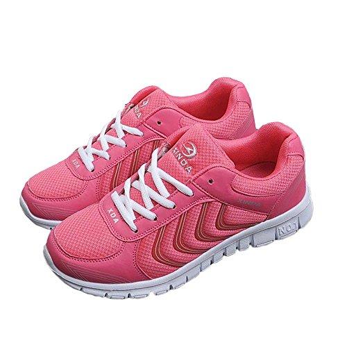 Schuhe Damen Sportschuhe Laufschuhe Sneaker Rosa Leicht Turnschuhe Atmungsaktive Mesh Aelegant Schnür gd0xn6q0
