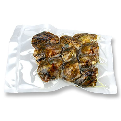 Surprised Gift for Party, RANDOM mixed colors, 6-8mm Round Akoya Cultured Pearl Oyster 50pcs, 5bags by NY Jewelry