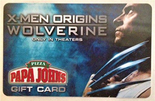 marvel-comics-x-men-origins-wolverine-papa-johns-gift-card-2009-no-value