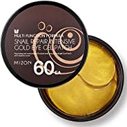Under Eye Collagen Patches Eye Masks with 24K Gold and Snail, Eye Gel Treatment Masks for Puffy Eyes, Eye Pads