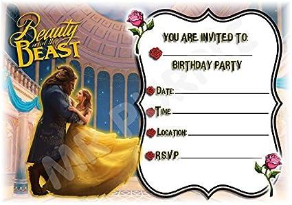 Disney La Bella y la bestia diseño de cumpleaños ...