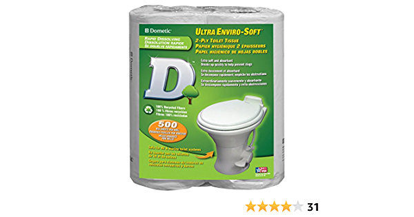 96 Pack Dometic 379700023 D Line 2-Ply Toilet Tissue