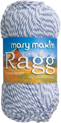 Mary Maxim Starlette Ragg Yarn quotDenimquot | 4 Medium Worsted Weight Yarn for Knit amp Crochet Projects | 100% Acrylic | 3 Ply  216 Yards
