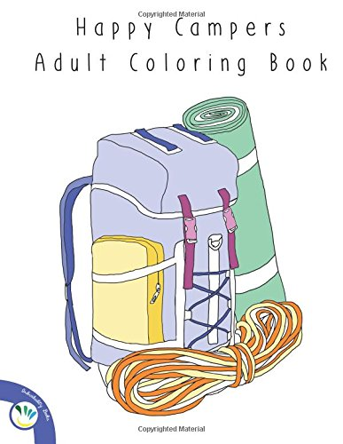 Happy Campers Adult Coloring Book