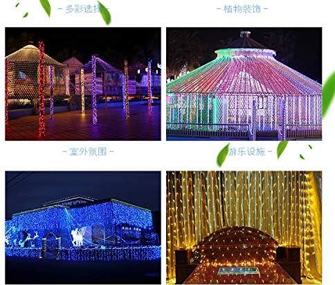 Dekoration des Chinesischen Neujahrsfests führte Fischernetzlichtdirektverkaufsantiaquarelllampe im Freien geführte Fischernetzlicht-Mall Weihnachten 10m X10m 2650 Lampe (mit Schwanzeinlage) Blau