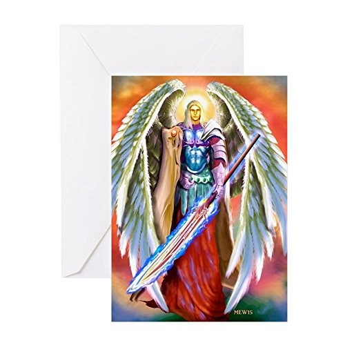 CafePress Angel Michael Greeting Cards Greeting Card, Note Card, Birthday Card, Blank Inside Matte