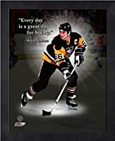 "Mario Lemieux Pittsburgh Penguins Pro Quotes Photo (Size: 9"" x 11"") Framed"