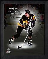 "Mario Lemieux Pittsburgh Penguins Pro Quotes Photo (Size: 9"" x 11"") Framed"