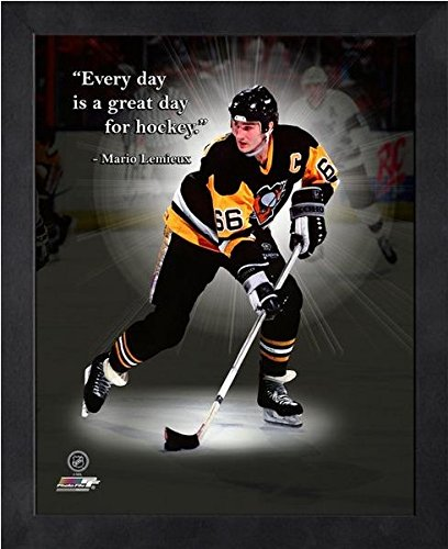 Pittsburgh Penguins Framed Photos - Mario Lemieux Pittsburgh Penguins Pro Quotes Photo (Size: 9