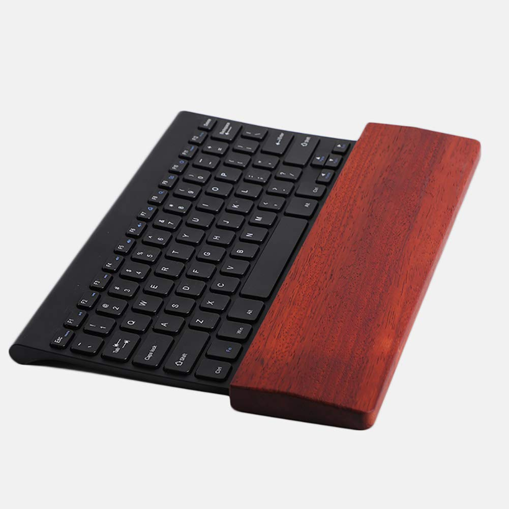 SHIYN Keyboard Wooden Wrist Rest, Ergonomic Wood Palm Rest Hand Support for PC Computer Laptop Gaming Keyboards in Home Or Office - Walnut by SHIYN