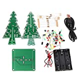 Cvmnkljfger 3D Electronic Learning Kit – Colorful LED DIY Christmas Tree LED Flash Kit DIY Circuit Board (Size : Colorful LED)