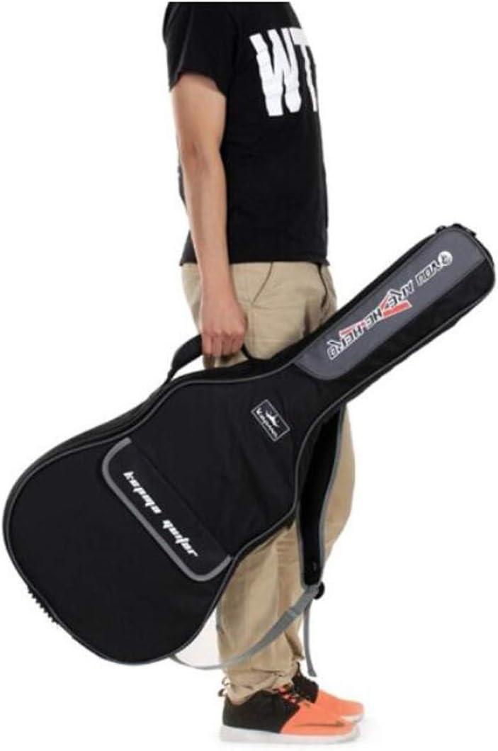 Color : Black-1164416cm Universal 40//41 Inch Shoulder Thickening Sponge Ballad Classical Electric Box Acoustic Guitar Bag Gaoxingbianlidian Guitar Bag