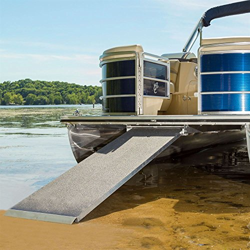 8' Original Lightweight Stainless Steel - Harbor Mate Pontoon Boat Ramp 600 lb. Capacity 7-1/2' Long Light Weight High Capacity Ramp