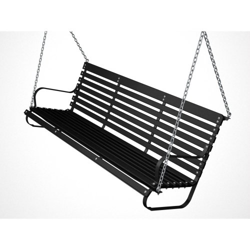 Ivy Terrace 60 in. Black and Black Patio Swing