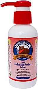 Grizzly Wild Antarctic Krill Oil All-Natural Antioxidant Dog Food Supplement, 4 oz