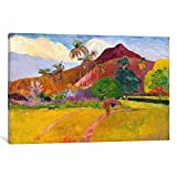 Museum quality Tahitian Landscape By Paul Gauguin Canvas Print. The art piece comes gallery wrapped, ready for wall hanging with no additional framing required. This print is also available in multi-piece or oversized formats, perfect for decorating ...