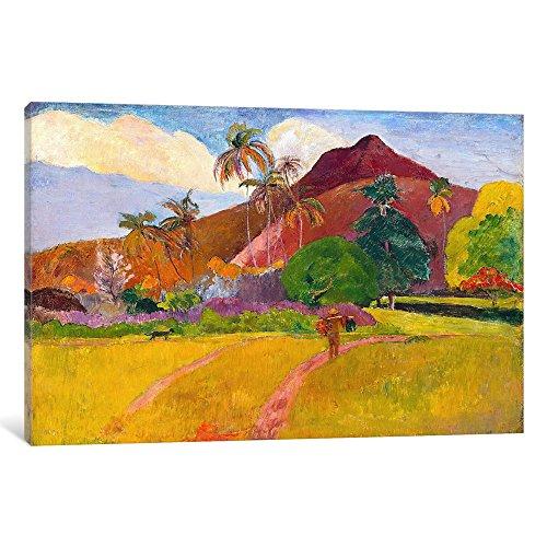 iCanvasART 1281-1PC6-18x12 Icanvas Tahitian Landscape by Paul Gauguin, 12