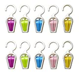 Set of 10 Fashion Color Collection Swivel Laundry Hooks Pins Hold Hanging Portable Clever Clips