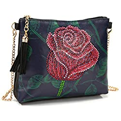 Small Wallet for Women,Roses Diamond Painting Wristlet Wallet Women Bag Embroidery Cross Stitch Wallet
