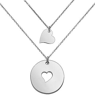 rivenditore all'ingrosso e5445 6a236 Set di collane per mamma e figlia, gioielli per mamma e figlia, regalo per  la festa della mamma, personalizzabile