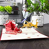 Christmas Cards Merry Christmas Cards Christmas Tree Winter Gift Pop UP Cards Christmas Decoration Stickers Laser Cut New Year Greeting Cards