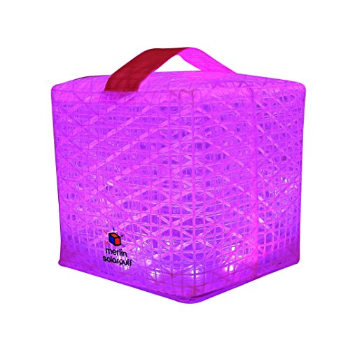 Solight-Design-Merlin-SolarPuff-Portable-Compact-LED-Solar-Lantern-Color-Changing-RedGreenBlueYellowWhitePurple-10-pack-MerlinPuff10A