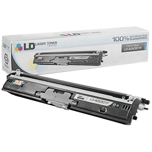 LD Compatible Toner Cartridge Replacement for Konica Minolta MagiColor 1600 A0V301F High Yield (Black)