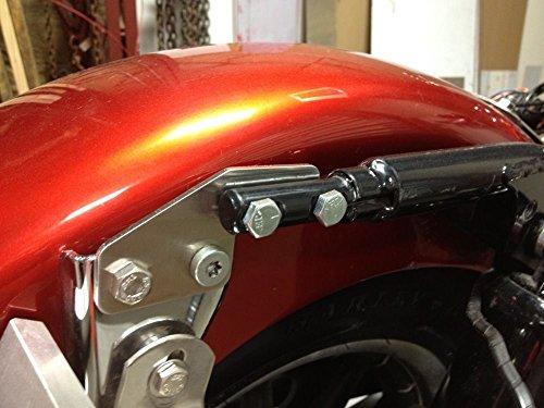 XKMT Black Saddlebag Support Bracket for 2009-2013 Harley-Davidson Touring Road King Electra Glide