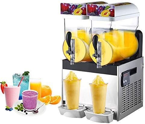 Amazon.com: JIAWANSHUN 15L × 2 Comercial Doble Tanque Frozen ...