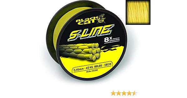 Black Cat Boya de siluro 250 g color negro y amarillo